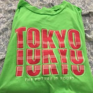 Fashion nova neon green shirt